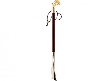"Ложка для обуви ""бульдог"" золотая 7*4 см. длина=78 см. Walking Sticks (323-051)"